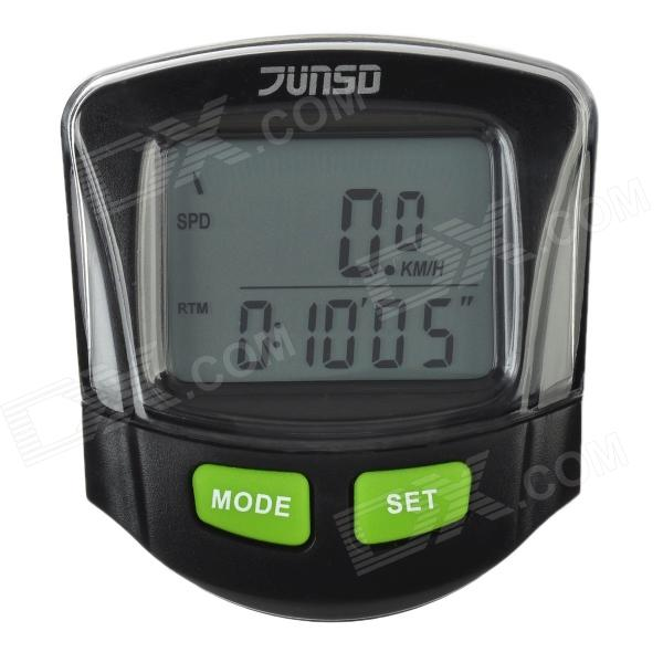 "JS-212 13-Function 1.5"" LCD Wireless Bicycle Computer - Black"