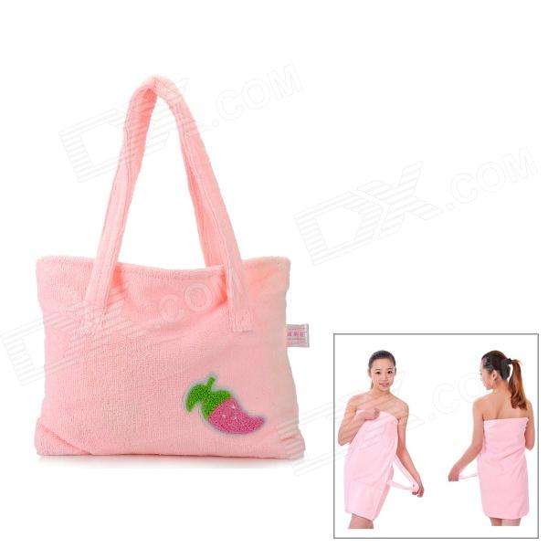 где купить HQS-Y35431 Superfine Fiber Multi-Functional Bath Towel / Handbag - Pink дешево
