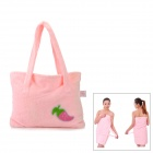 HQS-Y35431 Superfine Fiber Multi-Functional Bath Towel / Handbag - Pink