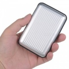 WL040 Stripe Style Aluminum Credit Card / Debit Card Storage Case - Silver