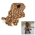Cute Giraffe Style Cotton & Polyester Pet Dog Apparel Clothes - Brown + Beige (Size S)