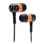 Dicsong DJ-100 Stylish Stereo In-Ear Earphones - Black + Orange (3.5mm Plug / 137cm)