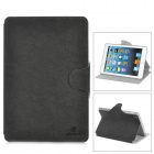 NILLKIN Stylish Protective PU Leather Case w/ Swivel Holder for Ipad MINI - Black