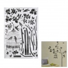 Birdcage Hang on Tree Pattern DIY Removable Decorative Wall Sticker - Black + White (60 x 90cm)