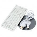 Mini Handheld Bluetooth V3.0 84-Key Keyboard - White
