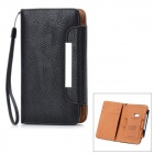 KALAIDENG Protective PU Leather Case w/ Card Slots / Lanyard for Nokia 920 - Black
