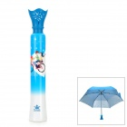 "Bicycle Lovers Pattern 19"" 3-Section Folding UV Protection Umbrella"