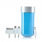 L401 4400mAh Portable External Emergency Power Charger w / LED-Taschenlampe - Blue
