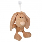 Cute Long-Eared Rabbit Style Plush Doll Toy w/ Suction Cup - Light Brown