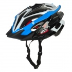 HaoHan Outdoor Sports Cycling Helmet w/ Channeled Vents - Blue + White + Black