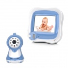 "2,4 GHz Wireless Security Surveillance Camera w / 3,5 ""LCD Baby Monitor / 8-LED (NTSC / PAL) - Blue"