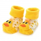 0719 Cartoon Duck Pattern Anti-Slip Baby's Socks - Yellow (Pair)
