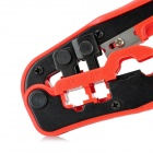 WJ-335 4P4C / 6P6C / 8P8C Network and Telephone Cable Crimping Tool Pliers - Black + Red