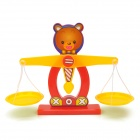 Kid's Intelligence Education Bear Scale Digital Balance Funny Tool Set - Multicolored