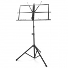 Universal Folding Iron Musical Stand - Black