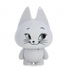 Cute Cat Shape USB Speaker w/ Audio Male to Male Cable - White