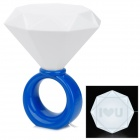 Diamond Ring Style 5W Warm White Light Lamp - Blue (AC 110~250V / 2-Round-Flat-Pin Plug)