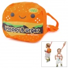 Hamburger Style Baby Toddler Kid Safety Harness Anti-Lost Backpack Strap - Orange