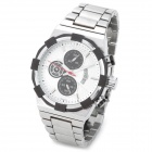 SPEATAK 9006G-4 Fashion Quartz Wrist Watch w/ Calendar - Silver + Black (1 x CR026)