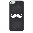 Mustache Pattern Protective Plastic Back Case for Iphone 5 - Black