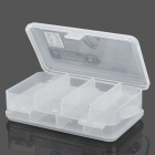 10-Compartment Double-side Plastic Storage Box for Hardware Tools / Gadgets - Translucent White