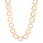 Fashion Copper Aluminum Alloy Crystal Necklace - Golden