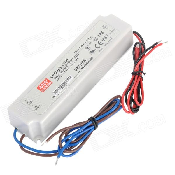 LPC-60-1750 Waterproof 60W 240V Constant Current LED Power Supply Driver - White good working original used for 42le4500 eay60803102 pldf l907a power supply 3pcgc10008a r