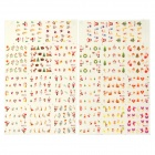 DIY Christmas Pattern Decoration Nail Sticker - Multicolored (2PCS)