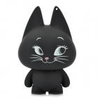 Cute Cat Shape USB Speaker w/ Audio Male to Male Cable - Black