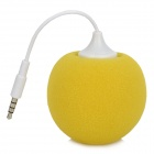 Mini Ball Style Sponge Speaker for Iphone / HTC / Samsung - Yellow