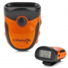 "Multi-Function 1,1 ""LCD Pedometer FM Radio w / Alarm Signal Light - Orange + Schwarz (4 x AG13)"