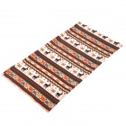 Multi-function Outdoor Sports Seamless Head Scarf - Brown + White 