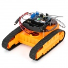 DIY Android Mobile Phone Bluetooth Control Crawler Module - Orange + Black