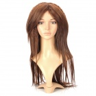 Fashionable Lady&#039;s Curly + Straight Long Hair Wig - Brown