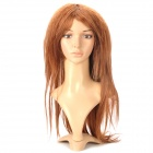 Fashionable Lady's Curly + Straight Long Hair Wig - Golden Brown