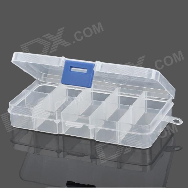 10-Compartment Free Combination Plastic Storage Box for Hardware Tools / Gadgets - Translucent WhiteStorage Supplies<br>- Color: Translucent white- Material: PP- Size: 3.1 x 2.3 x 2cm- 10 Compartments free combination- Great to hold hardware tools and other small gadgets<br>