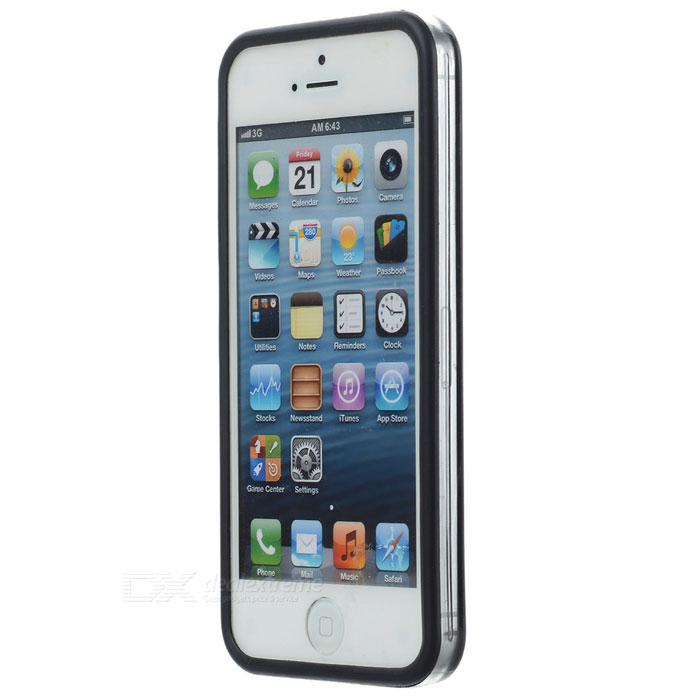 Ultra-thin Protective Silicone Bumper Frame for Iphone 5 - Black ultra thin protective silicone bumper frame for iphone 5 black