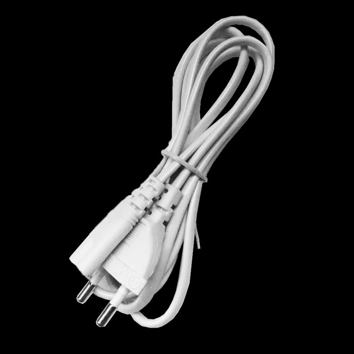 AC Power Cord / Cable for PC / Monitor - White (EU Plug / 120cm)