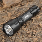 C8 7000K LED White Light Flashlight - Black (1 x AAA)