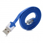 Universal USB Male to Micro USB Male Sync Data / Charging Flat Cable for HTC / Samsung - Blue