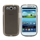 Protective Soft TPU Back Case w/ Screen Protector for Samsung Galaxy S3 i9300 - Translucent Grey