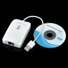 USB 2.0 Multi-Function Ethernet Lan Adapter + SD / M2 / TF Card Reader + 2-Port USB Hub - White