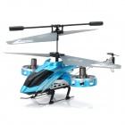 ZR-Z008 Rechargeable 4-CH IR Remote Controlled R/C Helicopter w/ Gyro - Blue + Silver Grey