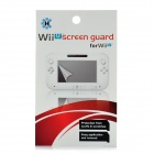 Protective Clear PET Screen Protector w/ Cleaning Cloth for Nintendo Wii U - Transparent