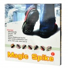Anti-Slip Snow Grabbers for Ice Snow Walking - Black (Pair)