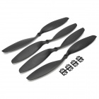 HJ 12 x 3.8'' Carbon Fiber CW / CCW Propellers for Multi-axis R/C Airplane - Black (2 Pairs)