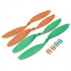HJ 12 x 3.8'' Carbon Fiber CW / CCW Propeller for Multi-axis R/C Airplane - Orange + Green (2 Pairs)