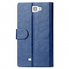 Notebook Design Protective PU + PC Case for Samsung Galaxy Note II N7100 - Blue