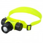 CREE XP-E Q5 200lm 3-Mode White Diving Flashlight - Black + Luminous Yellow (1 x 18650 / 3 x AAA)