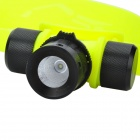 200lm 3-Mode White Floating Flashlight - Preto + Amarelo luminoso (1 x 18650/3 x AAA)